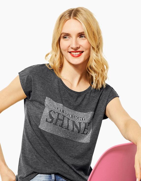Street One Shirt mit Frontprint aus Strasssteinen   [ADLER Mode]
