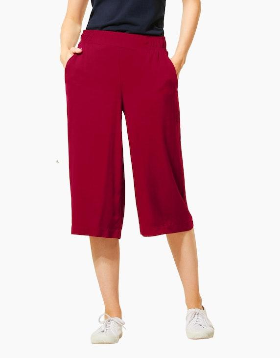 Street One Culotte-Hose mit weitem Bein, 3/4 Länge, reine Viskose | [ADLER Mode]