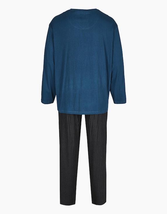 Big Fashion langer Pyjama mit gemusterter Hose | [ADLER Mode]