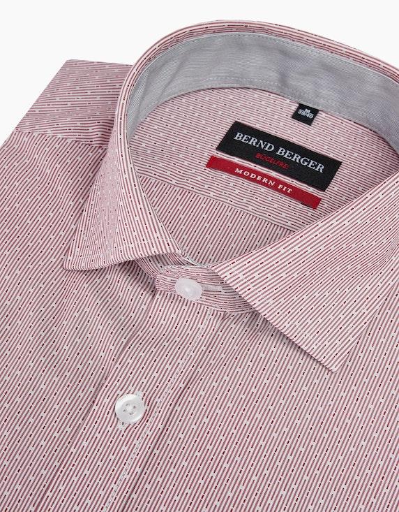 Bernd Berger Dresshemd fein gestreift mit Struktur und langen Ärmeln | [ADLER Mode]