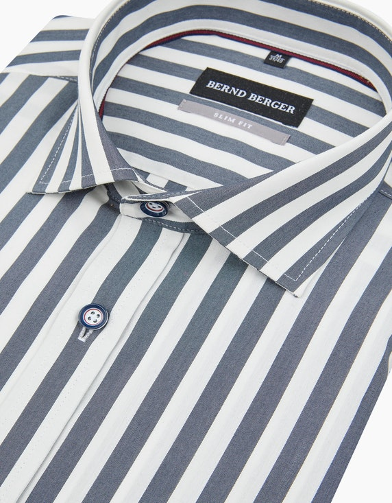 Bernd Berger Gestreiftes Dresshemd in schmalem Schnitt | [ADLER Mode]