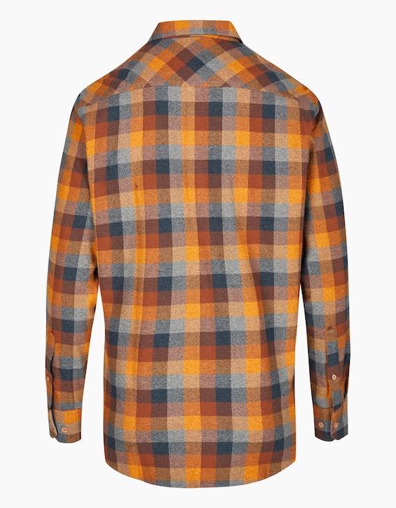 Bexleys man Karo-Flanellhemd mit zwei Patten-Brusttaschen, MODERN FIT | [ADLER Mode]
