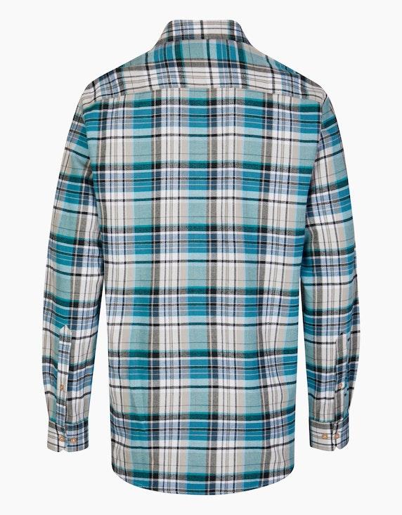 Bexleys man Flanellhemd kariert mit zwei Patten-Brusttaschen, REGULAR FIT | [ADLER Mode]