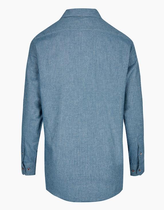 Bexleys man Flanellhemd mit Streifen, MODERN FIT | [ADLER Mode]
