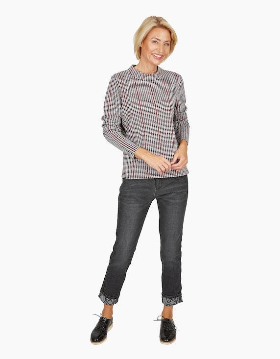 Steilmann Woman Jacquard-Shirt mit Hahnentritt-Muster | [ADLER Mode]