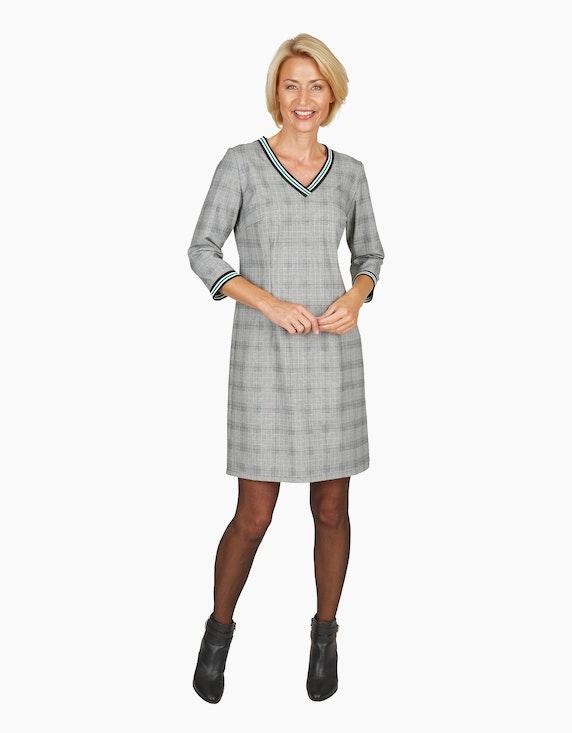 Steilmann Woman Glencheck-Kleid mit V-Ausschnitt | [ADLER Mode]