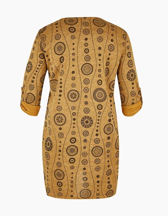 Thea Kleid in Melange-Optik mit Allover-Print | [ADLER Mode]