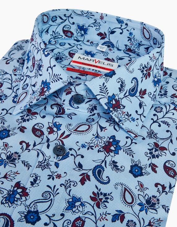 Marvelis Gemustertes Dresshemd mit Blumenmuster, MODERN FIT | [ADLER Mode]