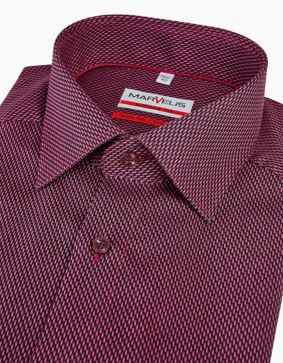 Marvelis Dresshemd mit feinem Strukturmuster, MODERN FIT | [ADLER Mode]