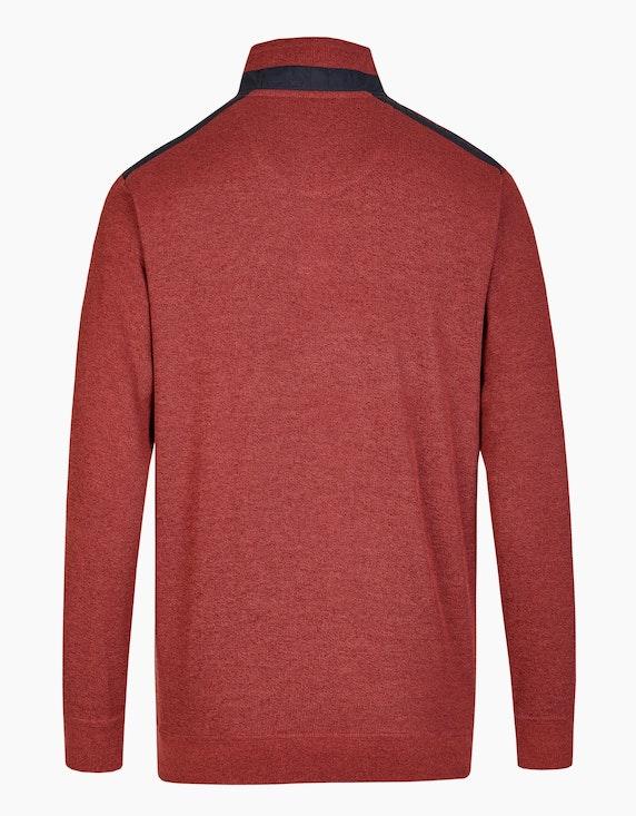 Bexleys man Sweatshirt mit Stehkragen und Reißverschluss-Brusttasche | [ADLER Mode]