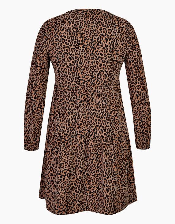 MY OWN Volant-Kleid mit Leo-Print | [ADLER Mode]
