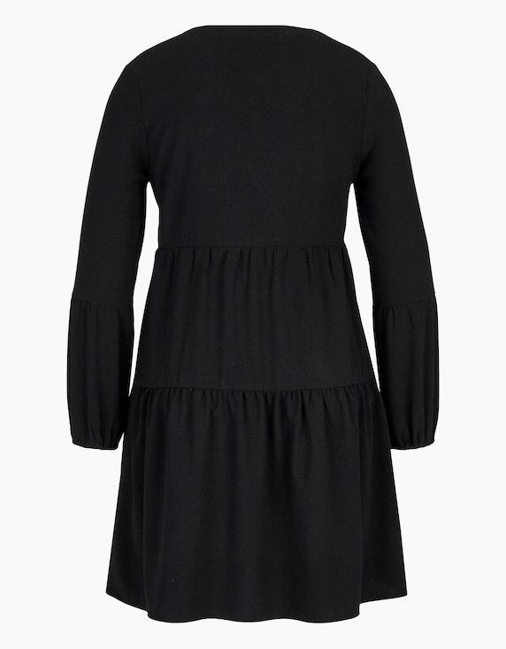 MY OWN Volant-Kleid unifarben mit V-Ausschnitt | [ADLER Mode]