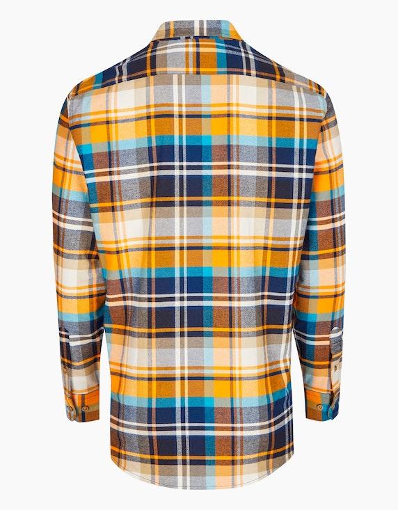 Bexleys man Kariertes Flanellhemd mit zwei Patten-Brusttaschen, MODERN FIT | [ADLER Mode]