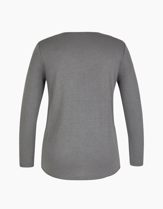 MY OWN Feinstrick-Shirt mit transparenten Pailletten | [ADLER Mode]
