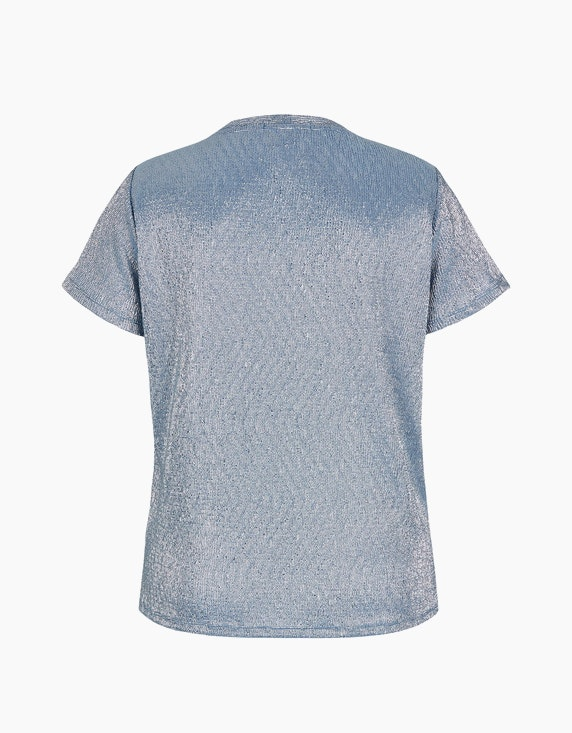 MY OWN Struktur-Shirt mit Folien-Punkte-Print | [ADLER Mode]