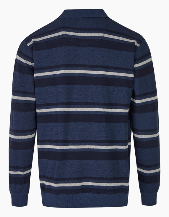 Bexleys man Gestreiftes Polo-Sweatshirt mit Brusttasche | [ADLER Mode]