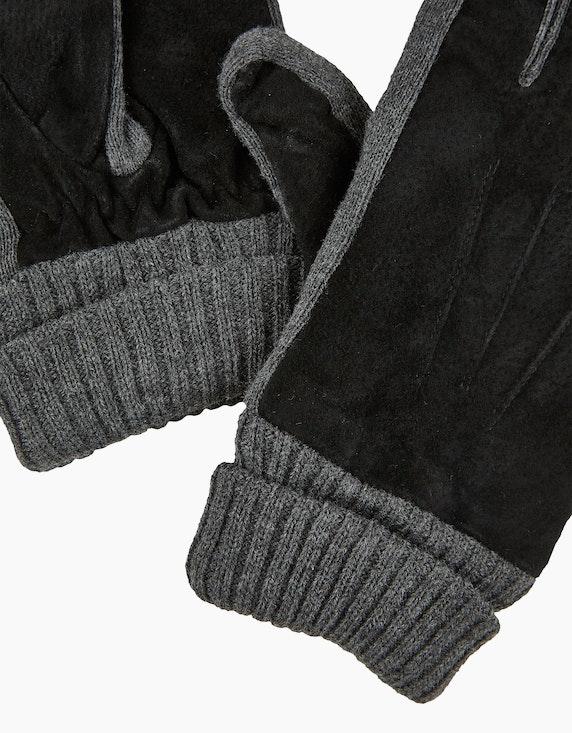 Bexleys man Strick-Handschuhe mit echtem Leder-Besatz | [ADLER Mode]
