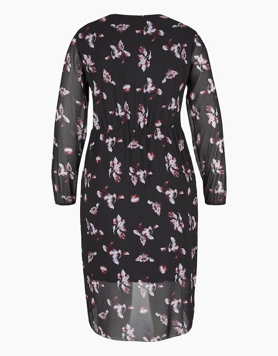 MY OWN Gemustertes Chiffon-Kleid mit Wickeloptik | [ADLER Mode]