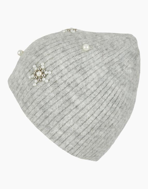 Bexleys woman Flauschige Strickmütze mit Perlenverzierung | [ADLER Mode]