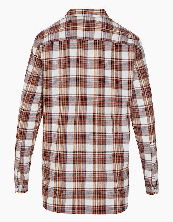 Bexleys man Flanellhemd mit Karo-Dessin und Stickerei, REGULAR FIT | [ADLER Mode]