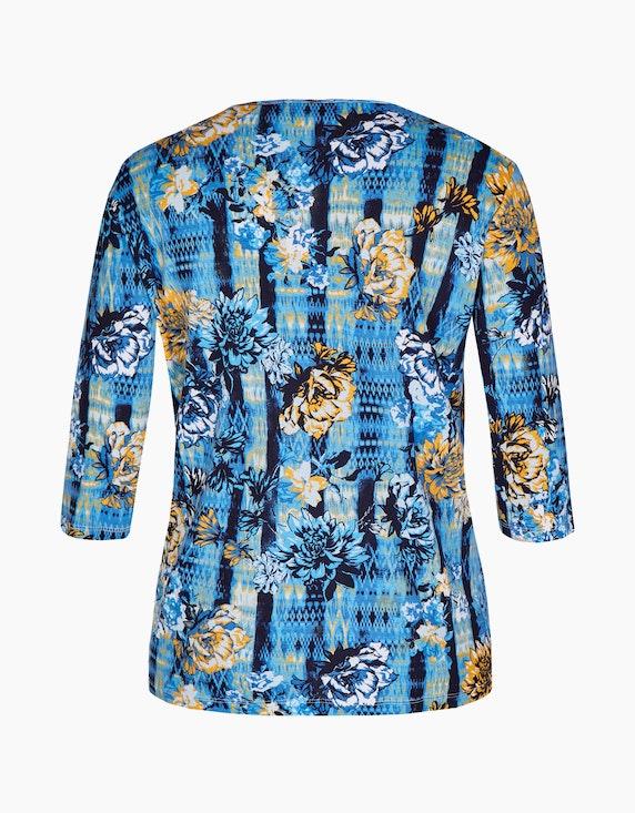 Thea Shirt mit Blumendruck und Schmucksteinen, reine Baumwolle | [ADLER Mode]