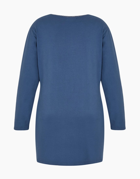Thea Shirt mit silberfarbenem Kontrast-Streifen | [ADLER Mode]