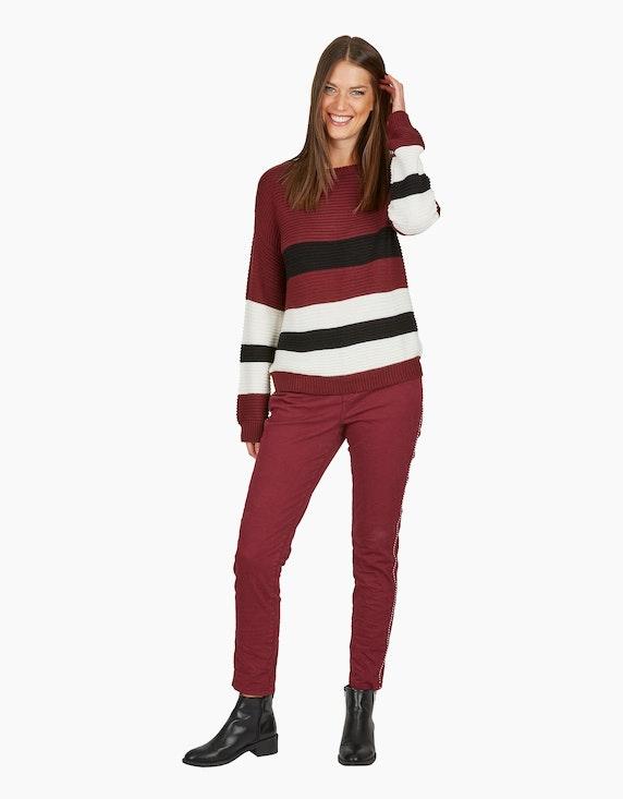 MY OWN Strick-Pullover mit breiten Streifen | [ADLER Mode]