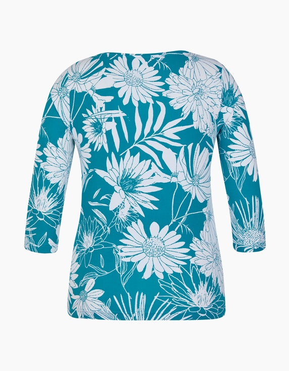 Malva Shirt mit 3/4-Arm in Floralem Design | [ADLER Mode]