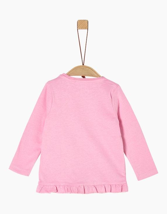 s.Oliver Baby Girls Langarmshirt mit Motivprint   [ADLER Mode]