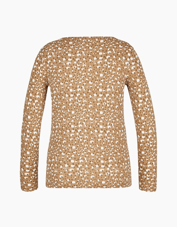 Bexleys woman Basic Langarmshirt mit ganzflächigem Druck | [ADLER Mode]