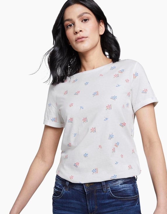 Tom Tailor T-Shirts im sommerlichen Allover-Print | [ADLER Mode]