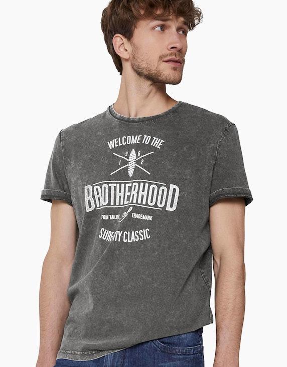 Tom Tailor T-Shirt in Stone-Washed-Optik   [ADLER Mode]