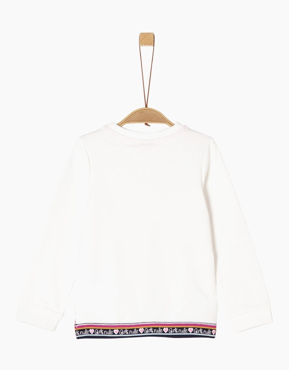 s.Oliver Mini Girls Sweatshirt mit Blumen-Print | [ADLER Mode]