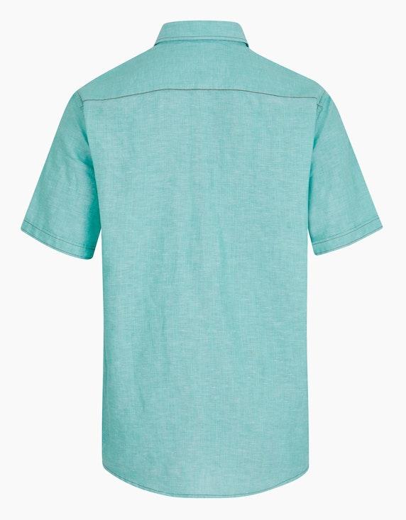 Bexleys man Freizeithemd aus Leinenmischung, kurzarm | [ADLER Mode]