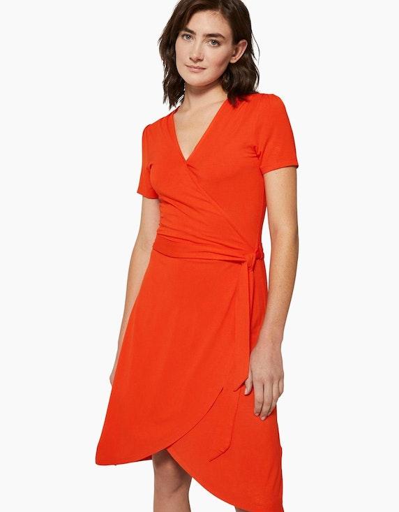 Tom Tailor Jersey-Kleid mit Bindegürtel und Wickeloptik | [ADLER Mode]