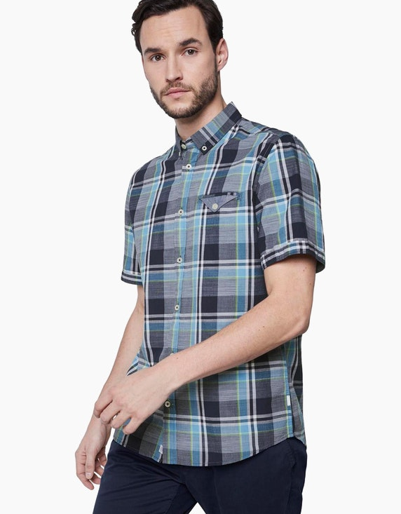 Tom Tailor Hemd mit Karomuster und Button-Down-Kragen | [ADLER Mode]