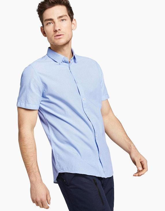 Tom Tailor strukturiertes Freizeithemd unifarben   [ADLER Mode]