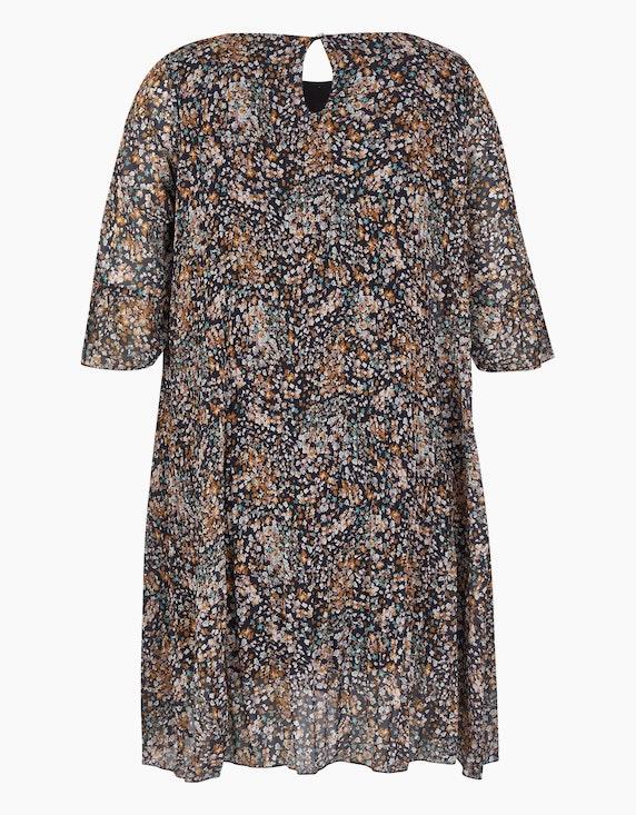 Made in Italy Plissee-Kleid mit Millefleurs-Muster   [ADLER Mode]