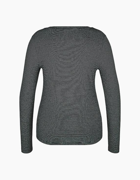Bexleys woman Langarmshirt mit Glitzerstreifen | [ADLER Mode]