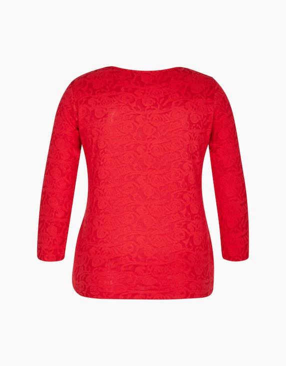 Bexleys woman Jacquard-Shirt mit floraler Struktur | [ADLER Mode]