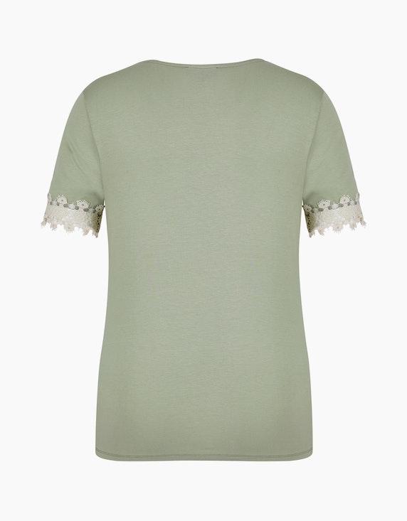Bexleys woman Elastisches Shirt mit Spitzendetail am Ärmel   [ADLER Mode]