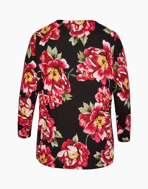 Thea Langarmshirt mit großem Blumendruck   [ADLER Mode]
