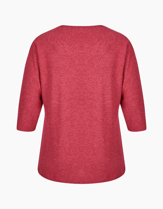 Thea Shirt in Melange-Optik mit Zierausschnitt   [ADLER Mode]
