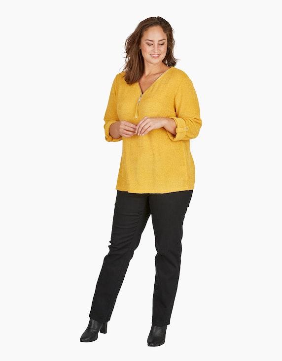 Thea Chenille-Shirt mit Deko-Reißverschluss   [ADLER Mode]