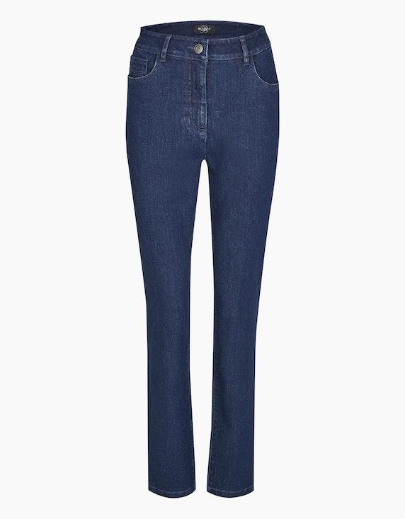 "Bexleys woman Jeans ""Susi"" in Blue Black Denim | [ADLER Mode]"
