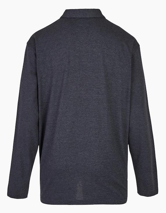 Big Fashion Poloshirt mit langen Ärmeln und Brusttasche | [ADLER Mode]