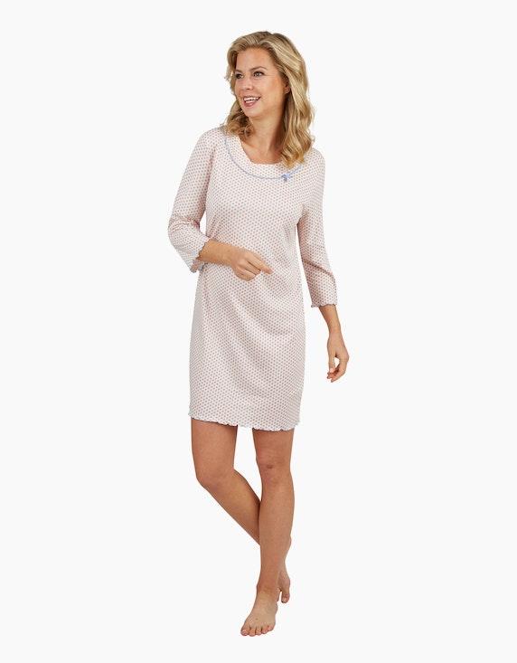 Bexleys woman Nachthemd mit ganzflächigem Punkte-Druck | [ADLER Mode]