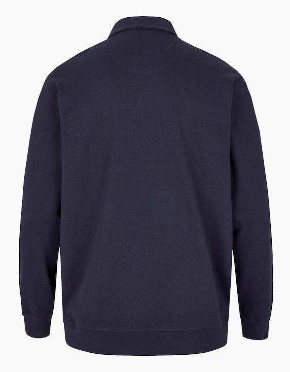 Big Fashion Langarm Poloshirt mit Streifen, aus reiner Baumwolle | [ADLER Mode]