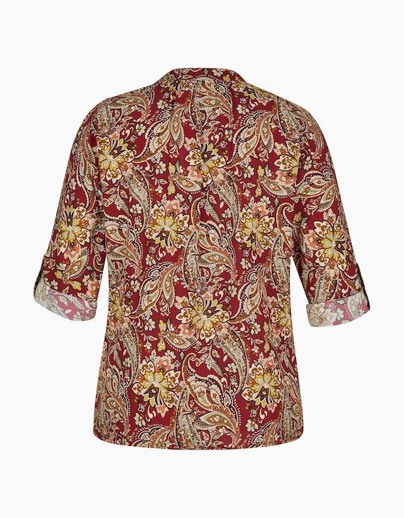 Made in Italy Bluse mit Paisley-Muster und Krempelärmeln   [ADLER Mode]