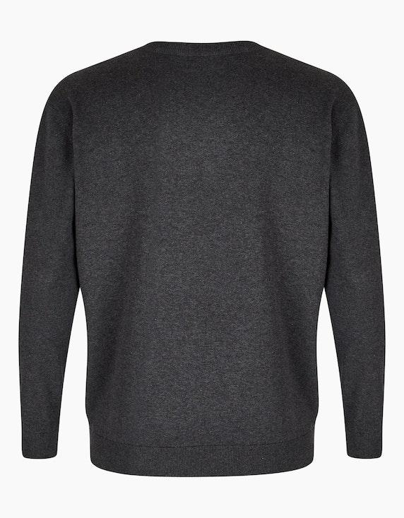 Big Fashion klassischer Pullover mit V-Ausschnitt   [ADLER Mode]